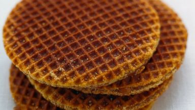 PHOTO: Dutch waffle biscuits, known as stroopwafel, are seen in this undated photo.