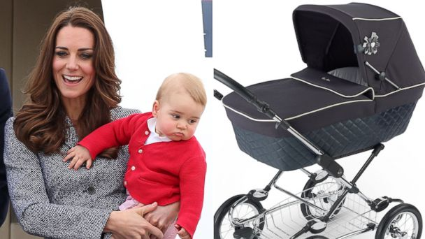 PHOTO: Kate Middleton and her son, Prince George, are seen on April 25, 2014 in Canberra, Australia and the Sleepover Pram System from Silver Cross is seen in an undated handout photo.