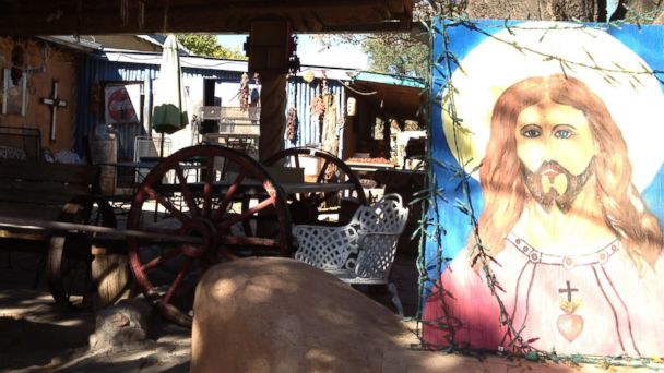 PHOTO: Jesus painting in a shed.