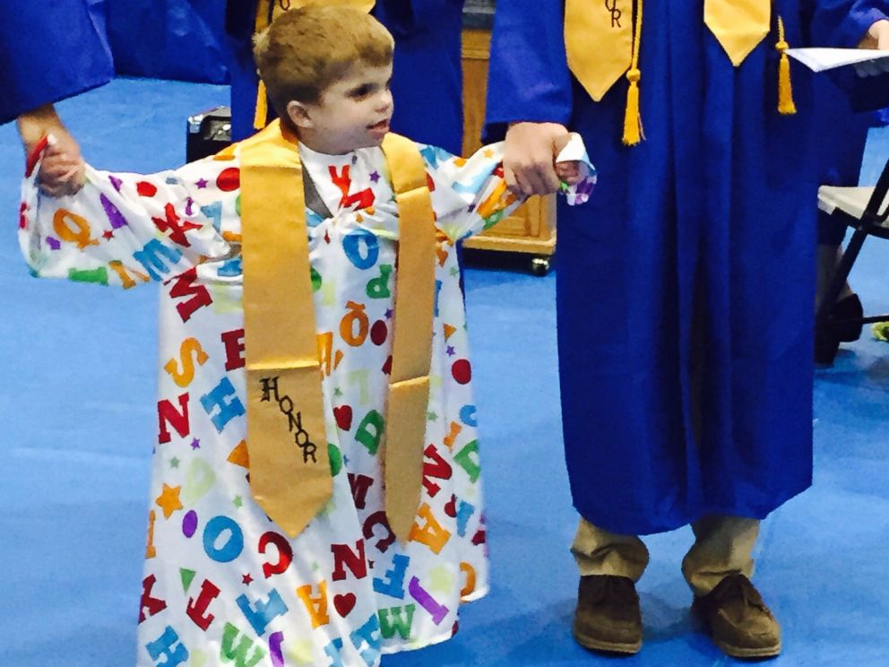 PHOTO: Jordan Planitz, 6, received an honorary diploma from Tri-City High School in Buffalo, Ill.