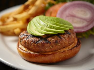PHOTO: Rockit Burger Bars salmon burger.