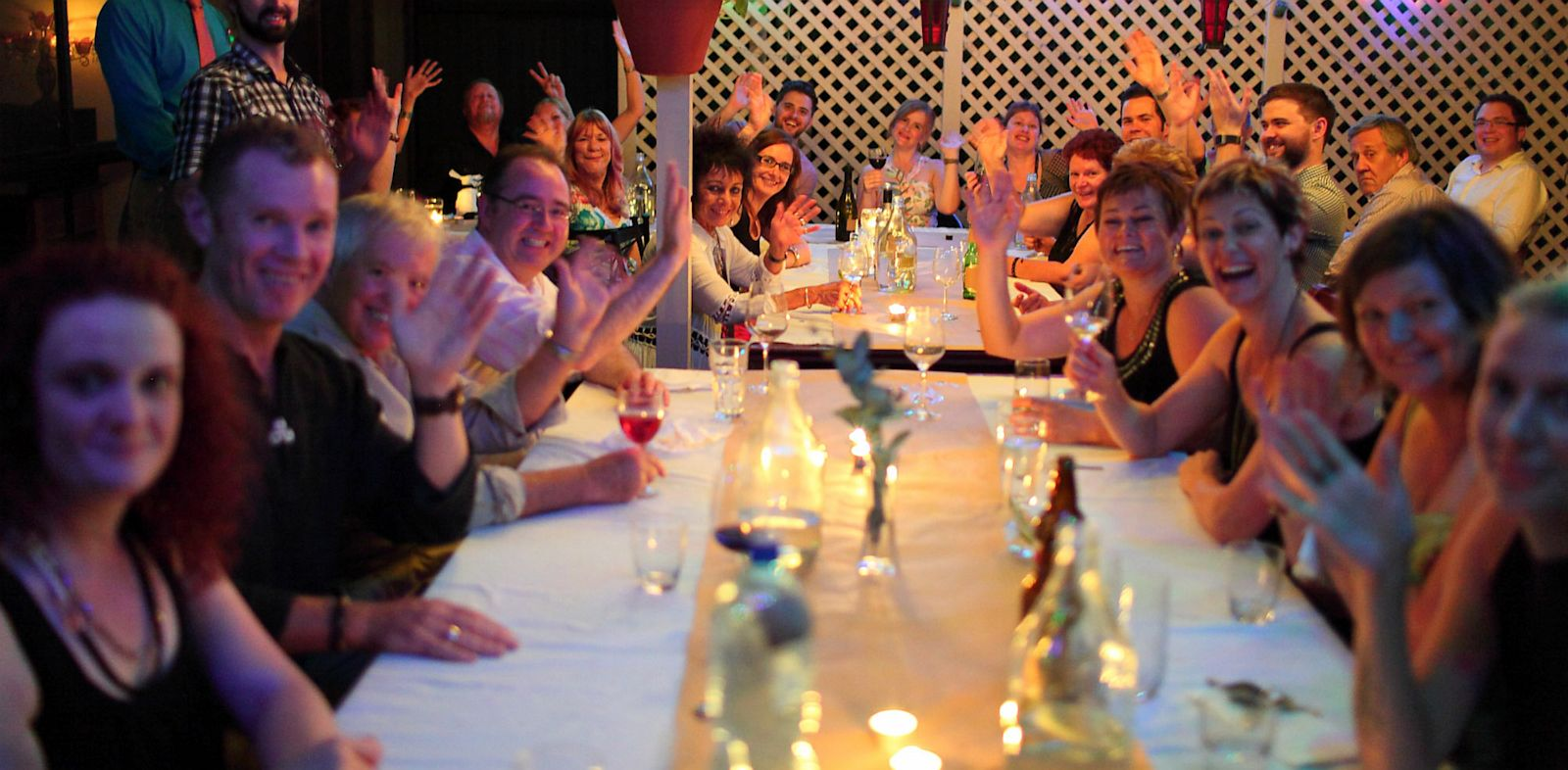 "PHOTO: ""Silent dinners"" like the one seen here in Adelaide, Australia in 2013, are a new phenomenon where diners are asked not to speak or use electronic devices and just focus on eating food."