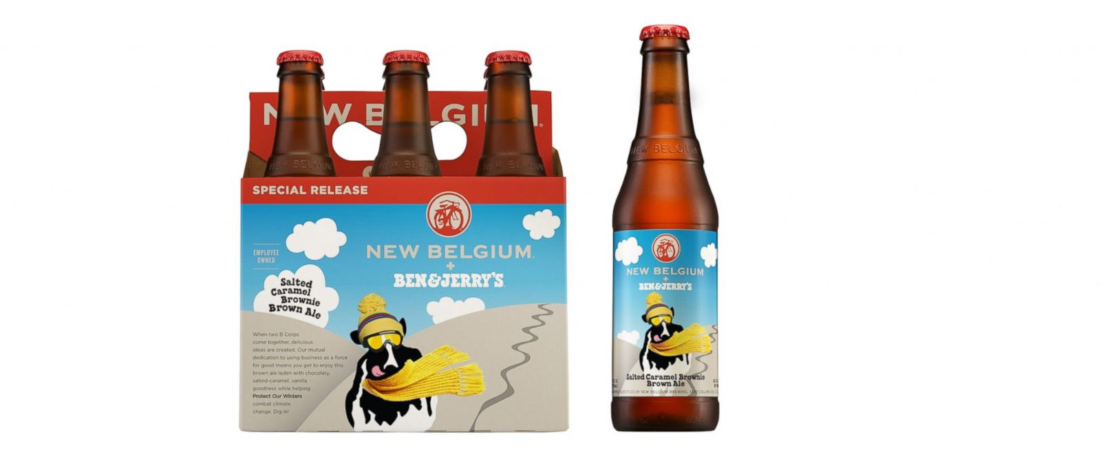PHOTO: Ben & Jerrys is teaming up with New Belgium to make a salted caramel brownie brown ale beer.