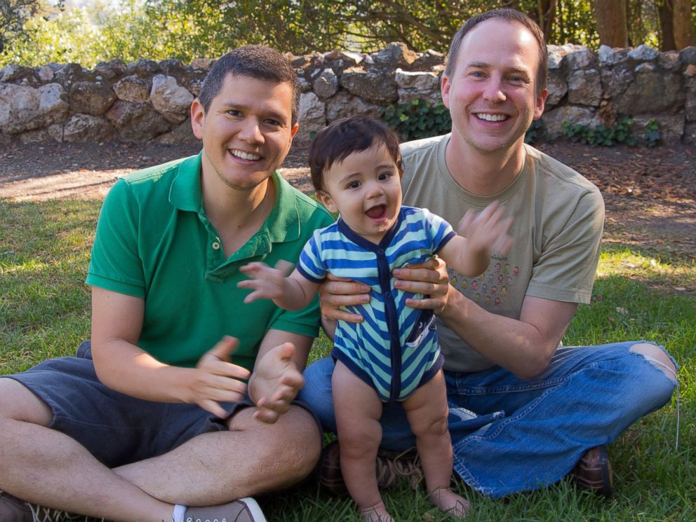 PHOTO: Benjamin Kaufmann-Malaga and Eduardo Kaufmann-Malaga, a gay couple, are now dads to baby boy Linus after their best friend served as their surrogate.