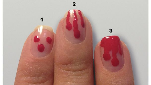 Dripping blood manicure tutorial.
