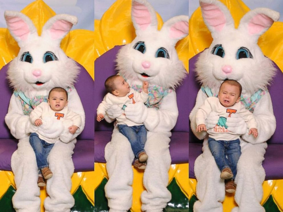 these kids are absolutely terrified of the easter bunny