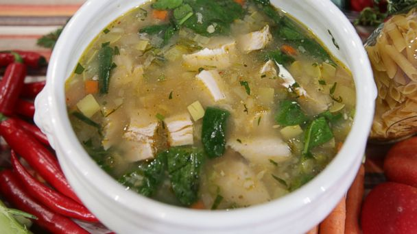 PHOTO: Emeril Lagasses Turkey and Rice Soup with Vegetables