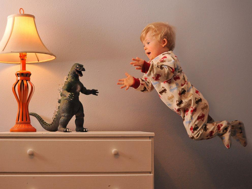PHOTO: Wil takes on Godzilla.