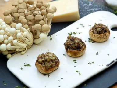 PHOTO: Sausage Stuffed Mushrooms.