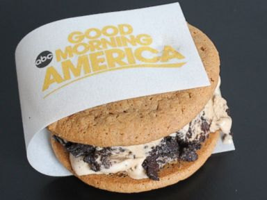 PHOTO: Coolhaus Good Morning America coffee Oreo and maple flapjack cookies ice cream sandwich.