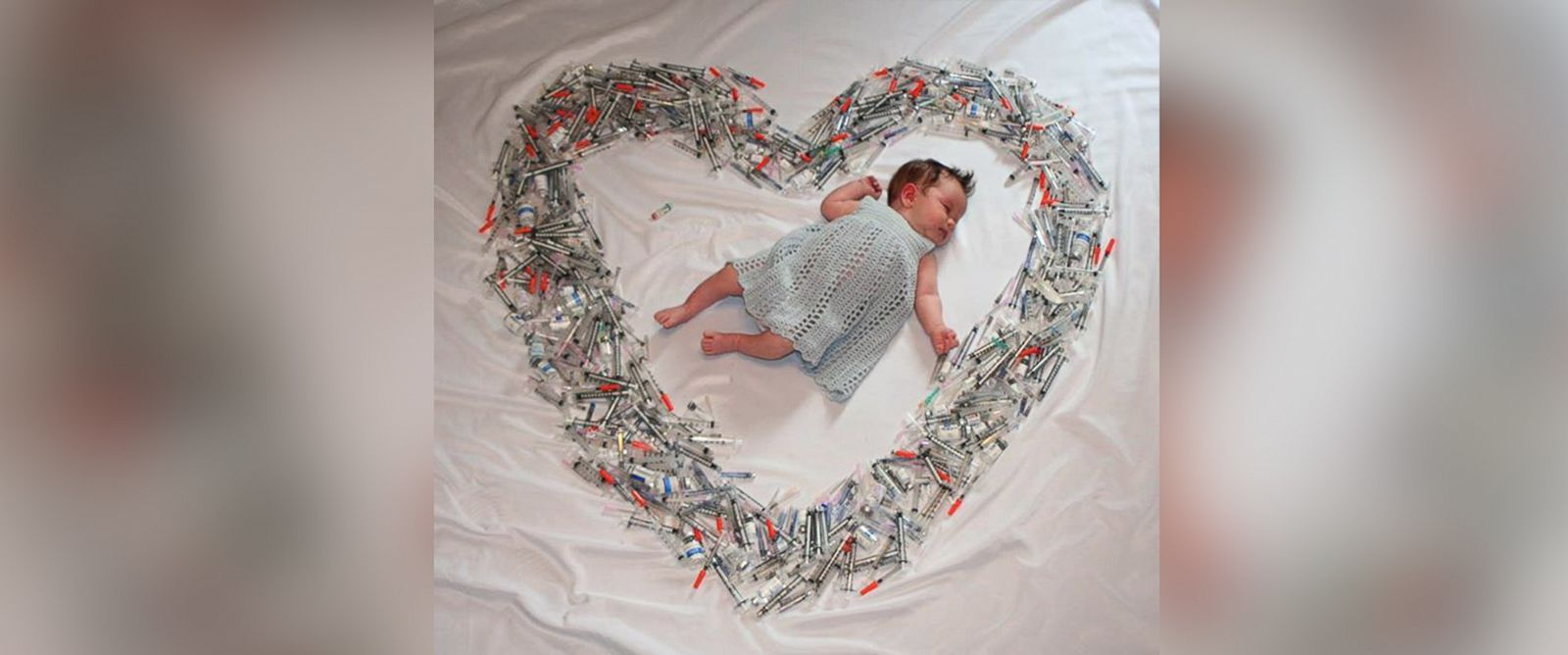 """PHOTO: An image shared on the Sher Institutes Facebook page with the text, """"Wow, what a photo. Thank you to Sher Fertility St. Louis and Dr. Dayal patient Angela, who shows the true definition of love that went into making this gorgeous new baby girl."""""""