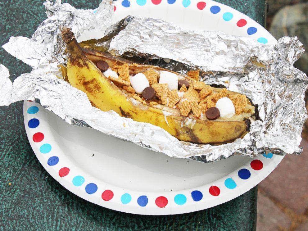 PHOTO: Campfire Smores Banana Boats