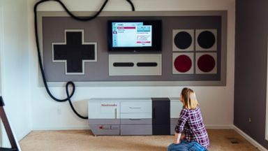 PHOTO: Mom Builds Sons Ultimate Nintendo Playroom