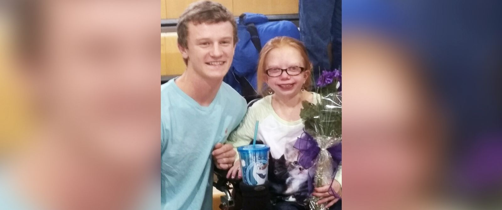 PHOTO: Autumn Pollard was unexpectedly asked to her high school prom by her friend, Cope Robinson.