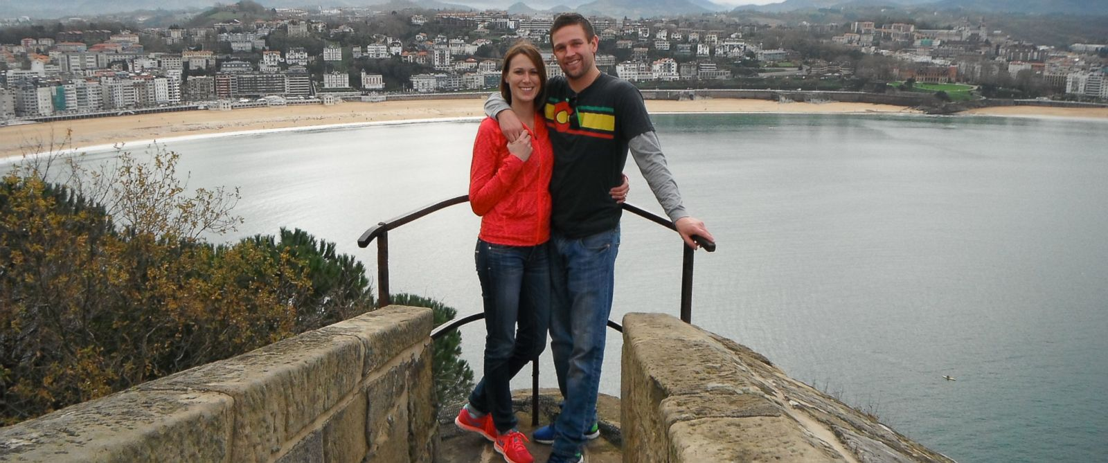 PHOTO: Amy Linville traveled to several places to receive clues from her boyfriend, Brett Arnold.