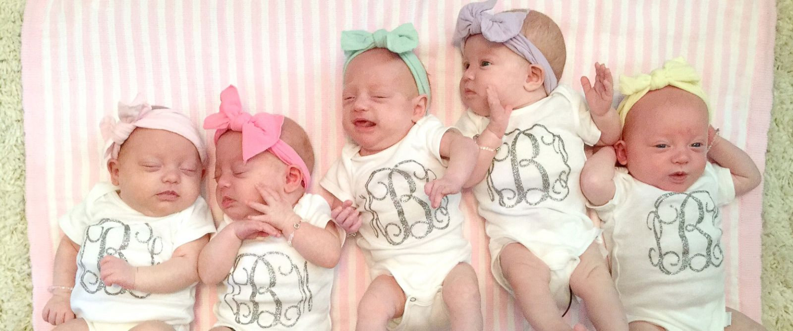 Last Of All Girl Busby Quintuplets Joins Sisters At Home