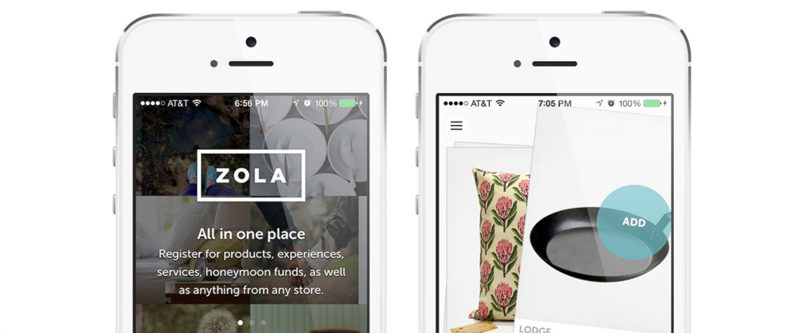 PHOTO: The Zola app lets couples add gifts to their registry from multiple stores.