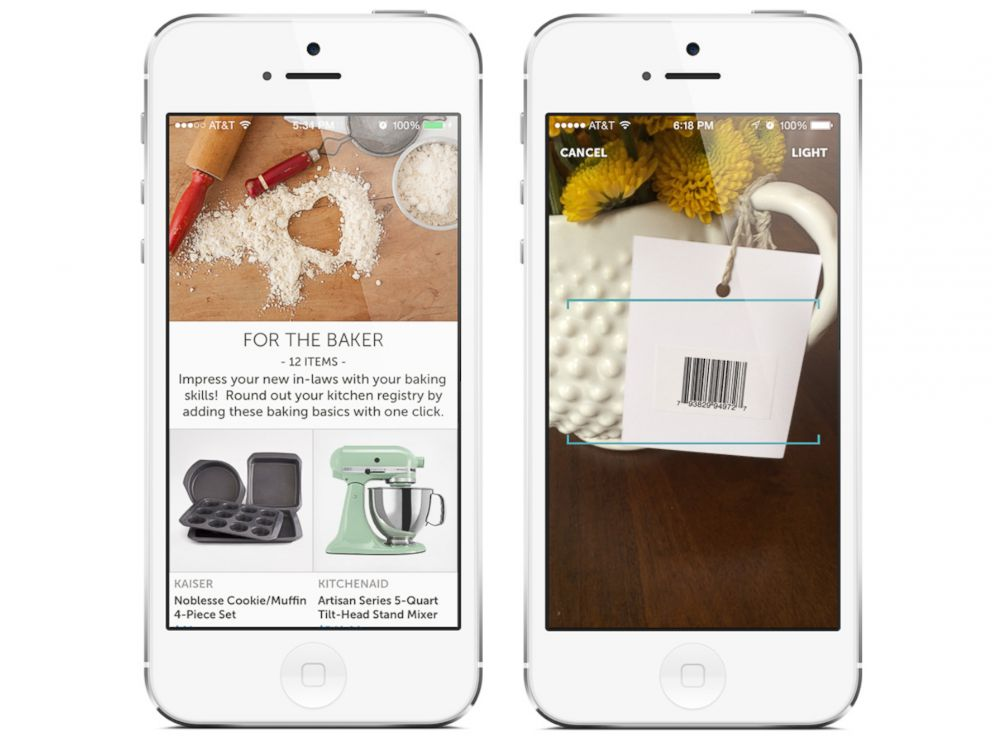 PHOTO: To add items to your registry, you shop on the app or in a store.