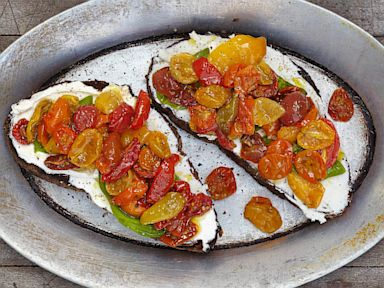 PHOTO: Roasted cherry tomatoes with ricotta cheese