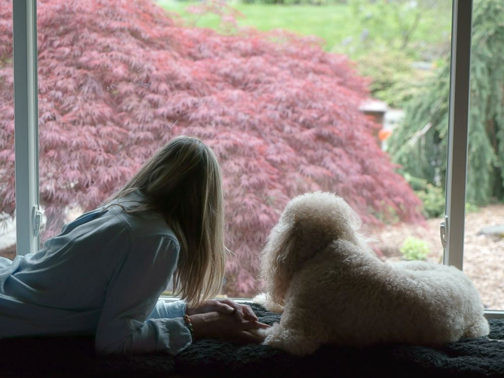 PHOTO: Jan is pictured with her dog, Marie.