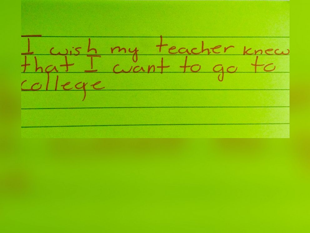 PHOTO: The students notes sparked a social media movement on Twitter.