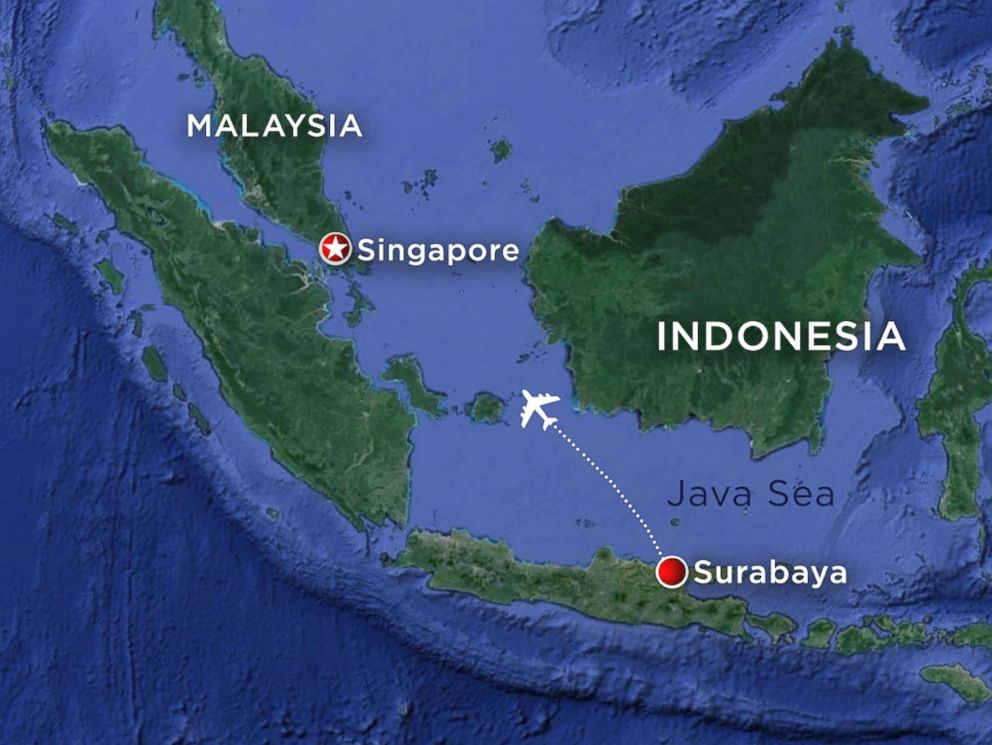 AirAsia Airbus A320-200 Map flight path