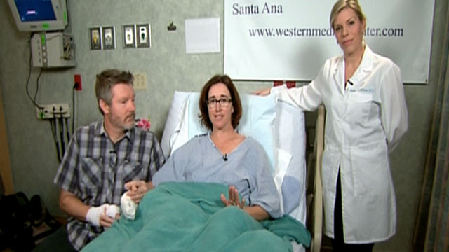 PHOTO: Officials believe rocks Lyn Hiner found on the shore of a Calif. beach caught fire in her pocket.