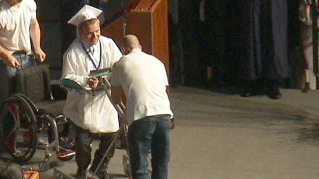 PHOTO: Patrick Ivison, a student who was hit by a car as a child, pledged hed walk across stage for diploma.