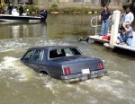 PHOTO: A demonstration in Naples, Florida of how to survive in a vehicle that gets into deep water.