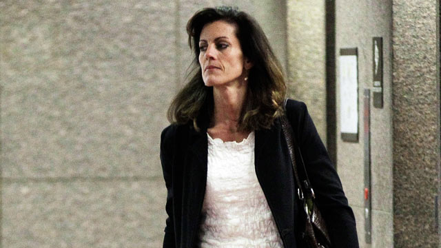 PHOTO: Amy Senser arrives at the courthouse April 30, 2012, in Minneapolis where she is expected to testify in her criminal vehicular homicide trial.