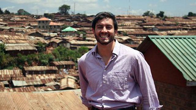PHOTO:Rye Barcott in Kibera, Kenya