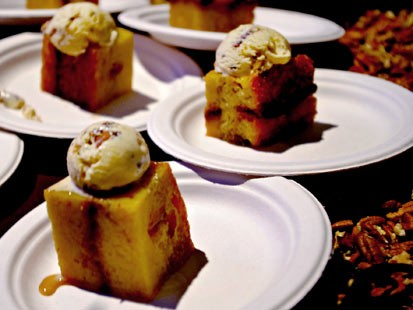 PHOTO:??Abe and Arthurs french toast pudding is shown.