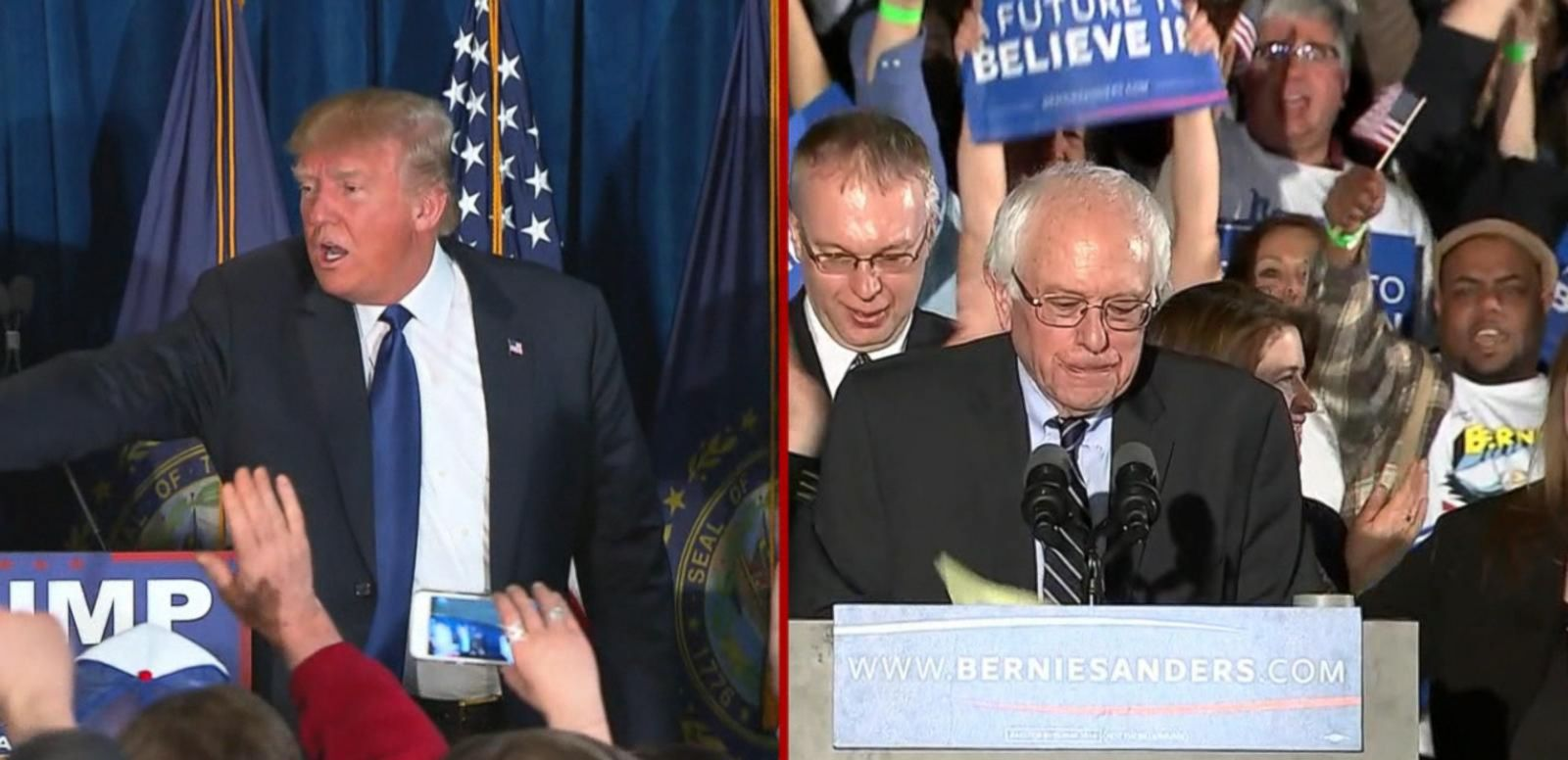 Donald Trump, Bernie Sanders Projected to Win NH Primary