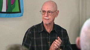 PHOTO Pastor Dick Witherow, 77, preaches to his congregation at ?Miracle Village,? a religious-based safe haven for sex offenders.