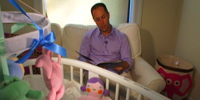 "PHOTO: Adam Mansbach, author of the popular just-for-parents bedtime story, ""Go the F--- to Sleep,"" reads his book on ""Nightline."""