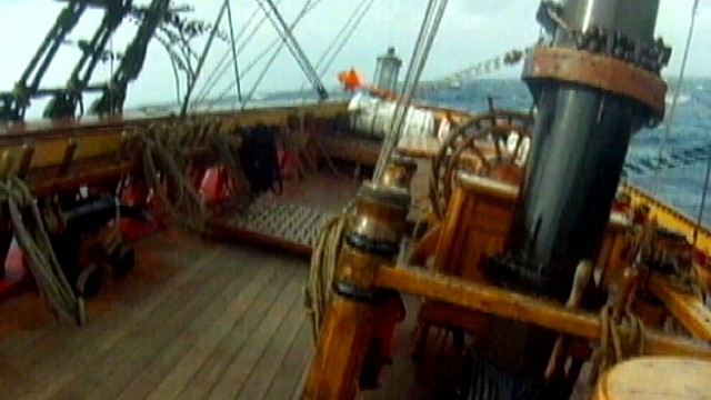 HMS Bounty Sinks in Sandy Wrath