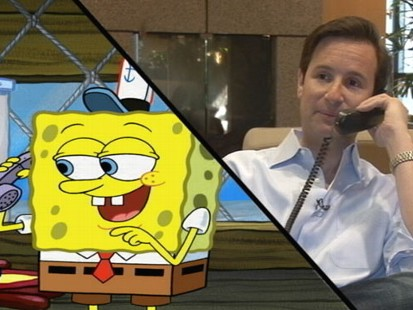 VIDEO: ABC News Neil Karlinsky talks shop with Nickelodeons spongy star.