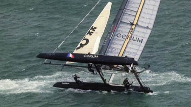 Catamaran Sailing Attracts NASCAR-Type Crowd