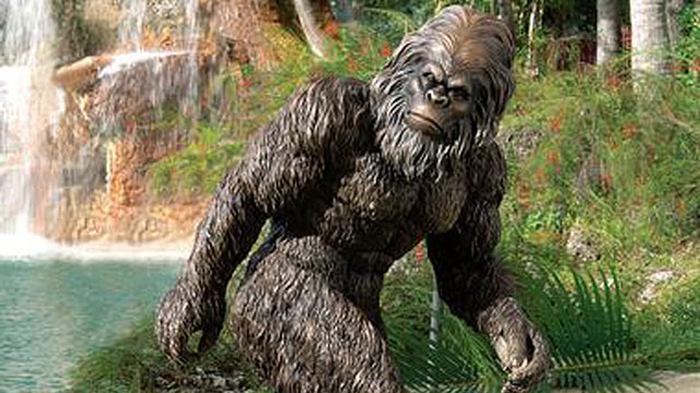 PHOTO: Bring the elusive, hairy Himalayan legend to life in your backyard with this two-foot-tall garden statue of Bigfoot.