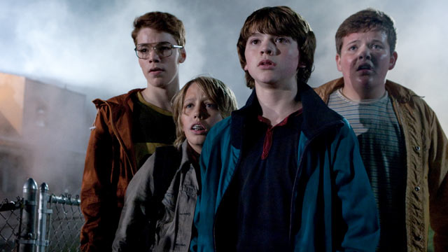PHOTO:Gabriel Basso plays Martin, Ryan Lee plays Cary, Joel Courtney plays Joe Lamb, and Riley Griffiths plays Charles in SUPER 8, from Paramount Pictures.
