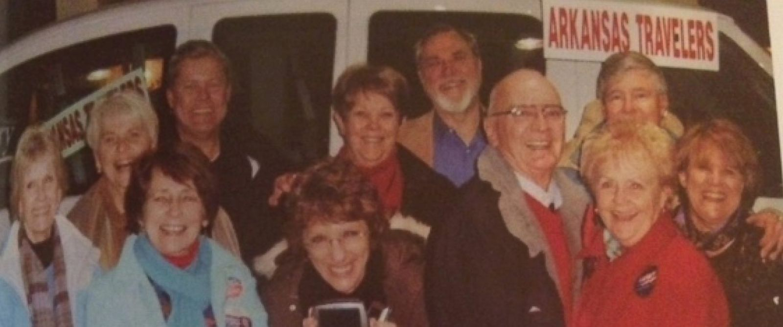 """PHOTO: The """"Arkansas Travelers for Bill"""" campaigning for Bill Clinton in 1992. The group is about to hit the road to campaign for Hillary Clinton."""