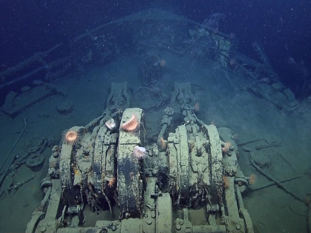 PHOTO: The anchor chains from the SS Robert E. Lee in this image made from the A Tale of Two Wrecks: U-166 and SS Robert E. Lee video.