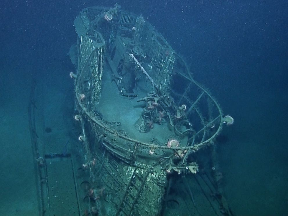 PHOTO: This image made from the A Tale of Two Wrecks: U-166 and SS Robert E. Lee video shows the conning tower on the U-166 U-boat which sank three ships in July, 1942.