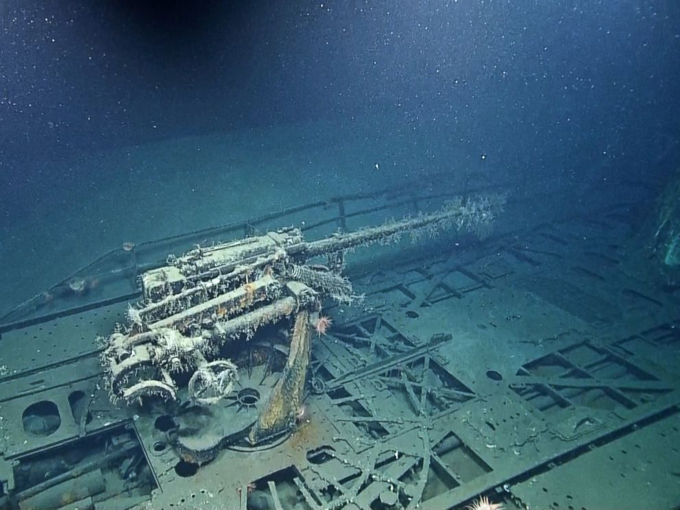 PHOTO: This image made from the A Tale of Two Wrecks: U-166 and SS Robert E. Lee video shows the gun on the U-166 U-boat which rests 1500 feet below the waters surface.