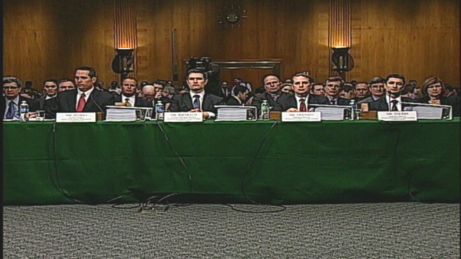Video of The Senate Subcmte. on Homeland Security grilling Goldman officials.