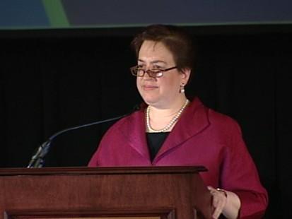 VIDEO: Solicitor General Elena Kagan praises Justice John Paul Stevens.