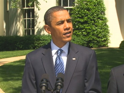 Video of President Obama talking about jobs added in April