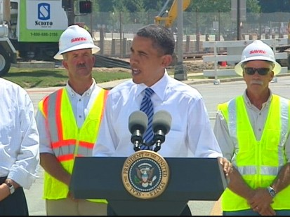 VIDEO of President Obama in Ohio touting the success of stimulus