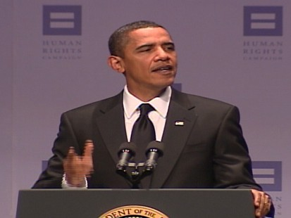 VIDEO of what Obama has said on the Defense of Marriage Act, gay rights