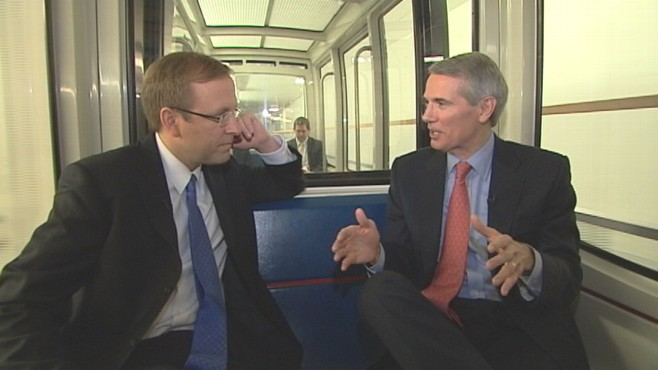 VIDEO of Sen. Portman Taking a Ride on ABCs Subway Series""